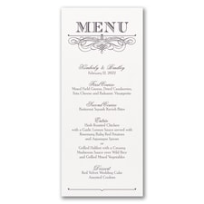 Decorative Menu - Menu Card - White