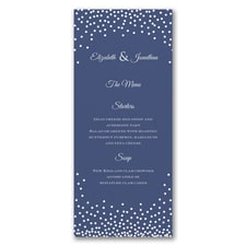 Decadent Dinner - Menu Card - White
