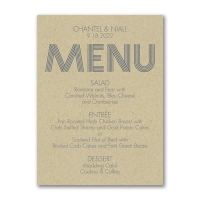 Modern Dinner - Menu Card - Kraft