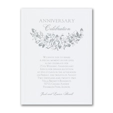 Floral Celebration - Anniversary Invitation