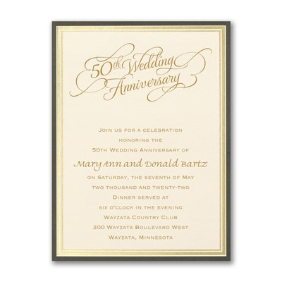 Golden Memories - Anniversary Invitation