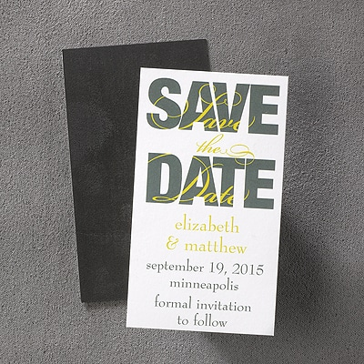 Bold - Save the Date Magnet - Marigold
