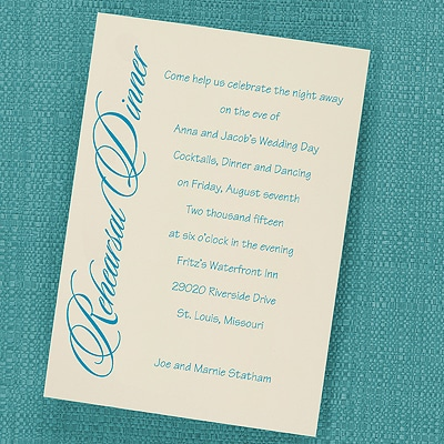Rehearsal Dinner - Vertical Card - Ecru