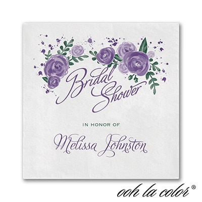 Floral Splash - Beverage Napkin