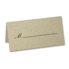 Scripted Seat - Place Card - Kraft