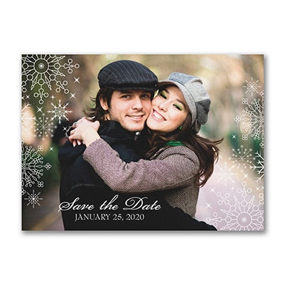 Snowflake - Save the Date Postcard