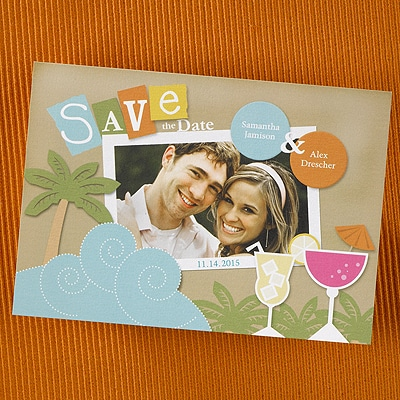 Tropical - Save the Date Card