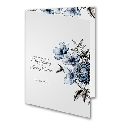 Illustrated Floral Program - Blue - White