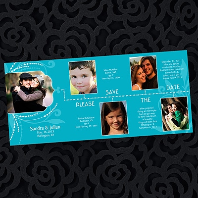 Storybook of Love - Save the Date Invitation - Palm