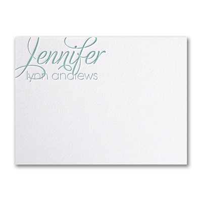 Simply Perfect - Cotton Large Note Card - Letterpress - White