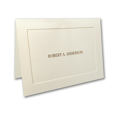 Embossed Panel - Note Folder - Ecru