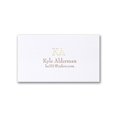 Simply Perfect - Business Card - White