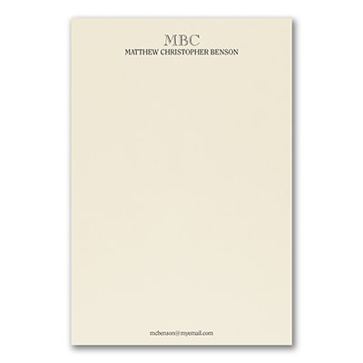 Superior - Stationery Sheet - Printed - Ecru