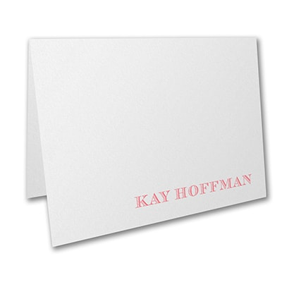 Large Note Folder - White