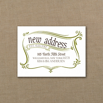 Stamp of Approval - Note Card - White
