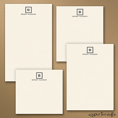 Fair and Square - Note Pad Gift Set - 50 Sheet - Ecru