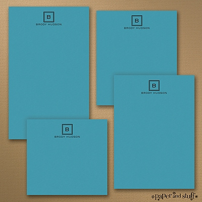 Fair and Square Notepad - Blue