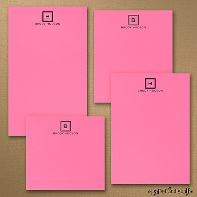 Fair and Square - Note Pad Gift Set - 50 Sheet - Pink