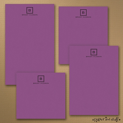 Fair and Square - Note Pad Gift Set - 50 Sheet - Purple