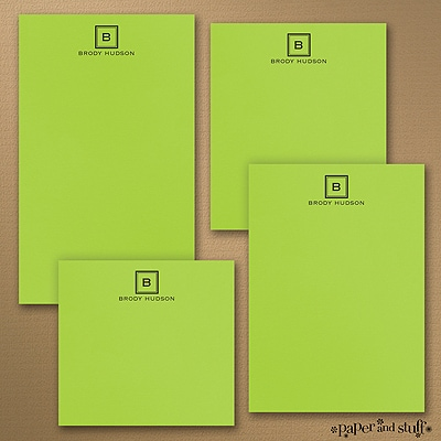 Fair and Square - Note Pad Gift Set - 50 Sheet - Green
