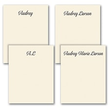 Fabulous Foursome - Note Pad Gift Set - 50 Sheet - Ecru