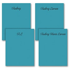 Fabulous Foursome - Note Pad Gift Set - 50 Sheet - Blue