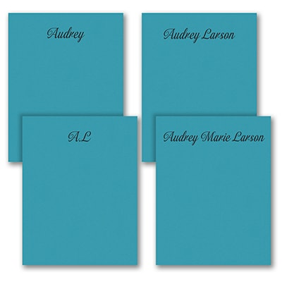 Fabulous Foursome - Note Pad Gift Set - 100 Sheet - Blue