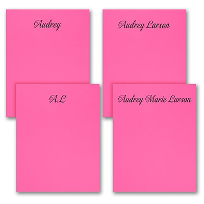 Fabulous Foursome - Note Pad Gift Set - 100 Sheet - Pink