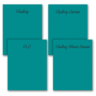 Fabulous Foursome - Note Pad Gift Set - 100 Sheet - Teal