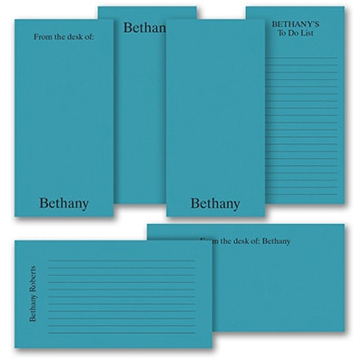 Jot a Line - Note Pad Gift Set - 50 Sheet - Blue