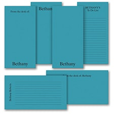 Jot a Line - Note Pad Gift Set - 100 Sheet - Blue