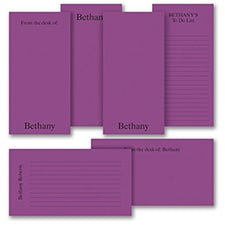 Jot a Line - Note Pad Gift Set - 50 Sheet - Purple
