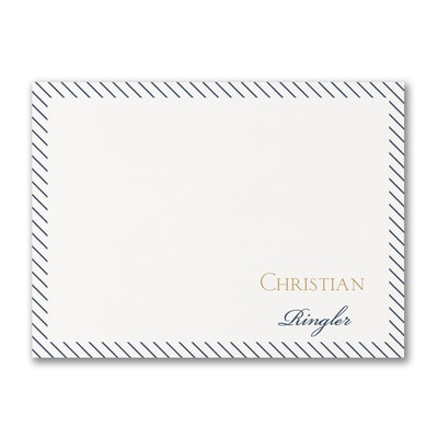Sleek Stripes - Note Card