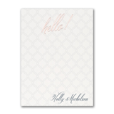 Saying Hello - Note Card