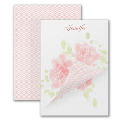 Flower Pattern - Notepad - 50 Sheets