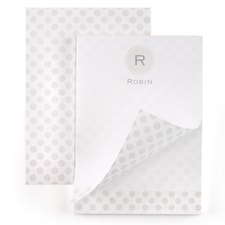 Monogram Dot - Notepad - 100 Sheets