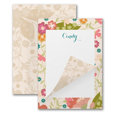 Retro Flowers - Notepad - 50 Sheets