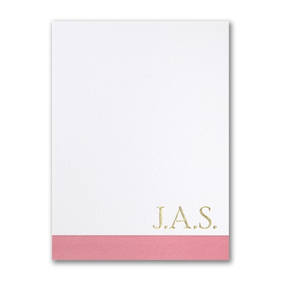 Color Blocked - Note Card