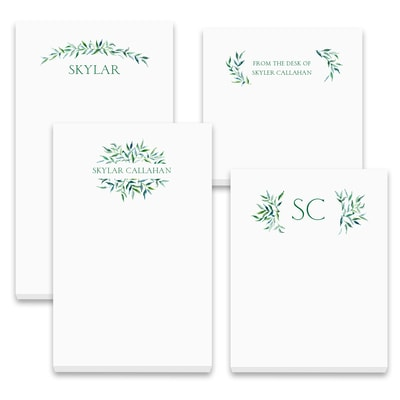 Greenery Swag - Note Pad Gift Set - 100 Sheet