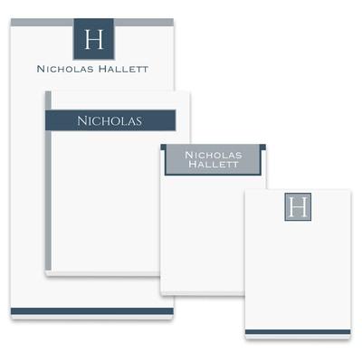 Bold Monogram - Note Pad Gift Set - 50 Sheet