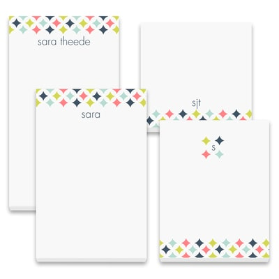 Colorful Diamonds - Note Pad Gift Set - 50 Sheet