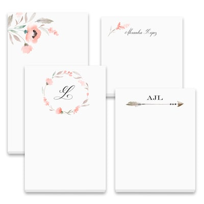 Floral Sensation - Note Pad Gift Set - 100 Sheet