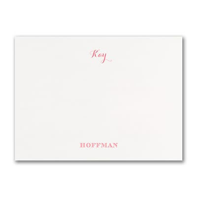 Note Card - White