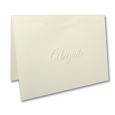 Simply Perfect - Large Note Folder - Embossed - Ecru