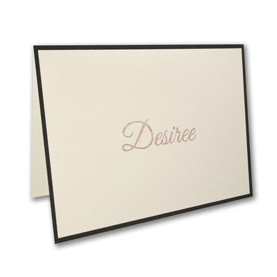 Black Sophisticated Border - Note Folder