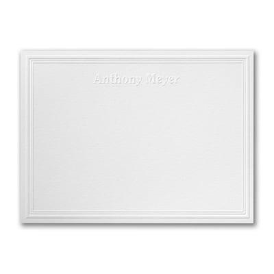 triple embossed note card embossed white - Embossed Note Cards