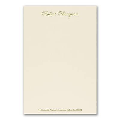 Royal Stationery Sheet - Printed - Ecru