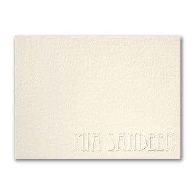Simply Perfect - Large Note Card - Embossed - Ecru