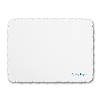 Lacy Scalloped Edge - Note Card - White