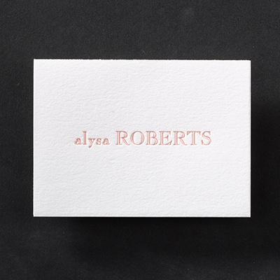 Simply Perfect - Cotton Note Folder - Letterpress - White